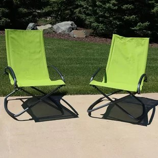 outdoor folding lounge chairs upholstered swivel rocker wayfair quickview