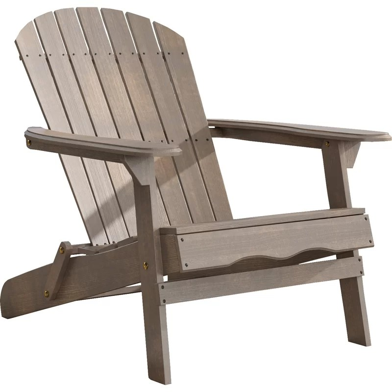 solid wood chairs pads for rocking birch lane heritage ridgeline folding adirondack chair