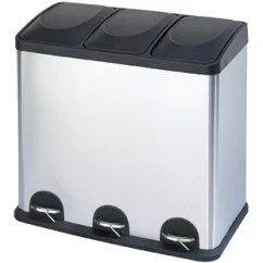 Kitchen Trash Bin Island With Storage Cans You Ll Love Wayfair Ca Stainless Steel 3 Compartment 16 Gallon Can