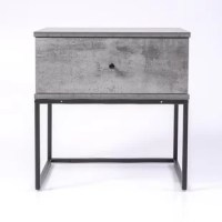 Grey Wood Nightstand  kcbins
