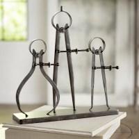Trent Austin Design Rhine Compass and Caliper Sculpture ...