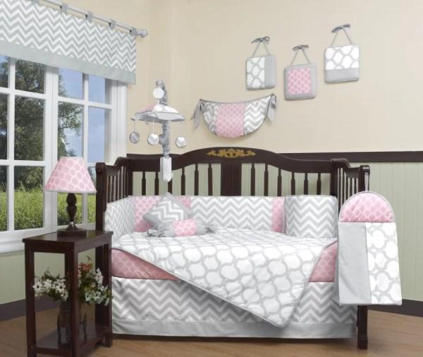 Geenny Chevron 13 Piece Crib Bedding Set &