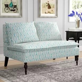 kitchen settee backsplash design banquette seating sets wayfair hofmann upholstered graphic print loveseat