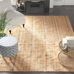 Neutral Rugs For Living Room Orange Decorations Area You Ll Love Wayfair Latham Rigo Jute Hand Woven Tan Rug