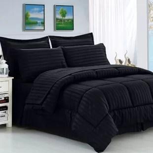 black comforter bedding you