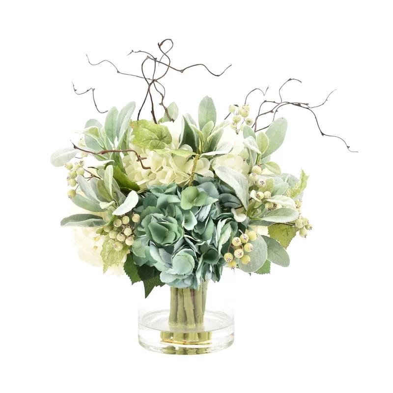 hydrangeas floral arrangement in