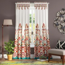 World Menagerie Pierre Paisley Room Darkening Thermal Rod