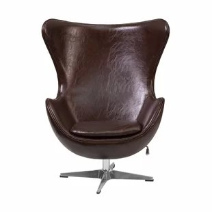 brown swivel chair exercise ball benefits leather accent chairs you ll love wayfair tod lounge