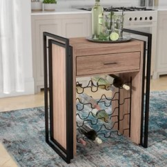Kitchen Wine Rack Outdoor With Freestanding Grill Island Wayfair Ca Ruff Storage Table