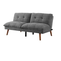 Simmons Reversible Chaise Sofa Modern Corner Leather Charcoal Wayfair Quickview