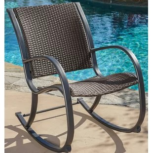 outdoor rocking chairs bunjo chair canada resin wayfair freeburg