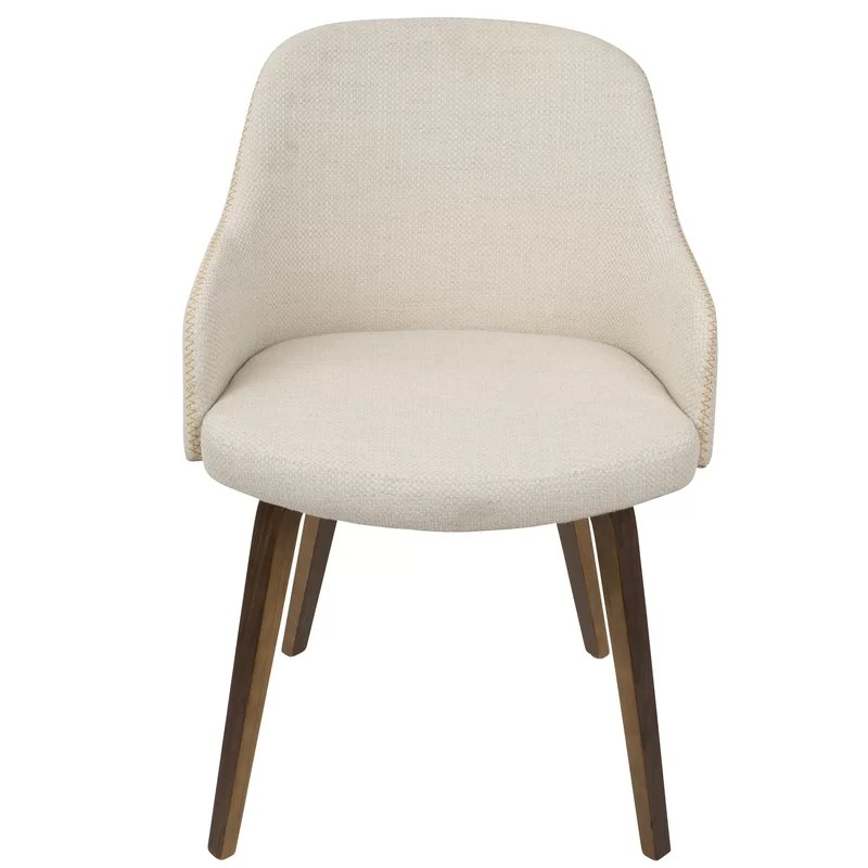 mid century barrel dining chair reclining camp with footrest brighton modern upholstered reviews allmodern