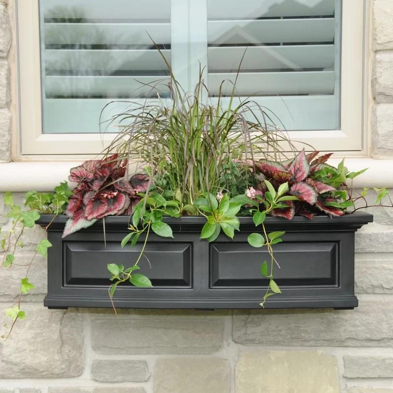 Mayne Inc Nantucket SelfWatering Plastic Window Box Planter  Reviews  Wayfair