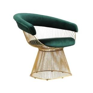 gold dining chairs white outdoor nz erin chair wayfair alondra wire