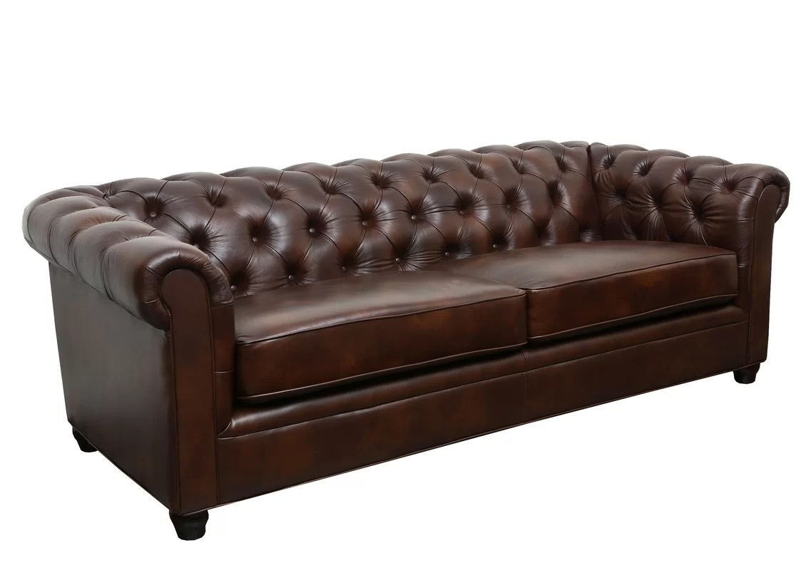 Leather Chesterfield Chair Trent Austin Design Harlem Leather Chesterfield Sofa