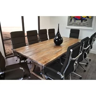 conference tables and chairs chair with casters table set wayfair quickview