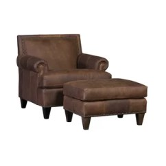Leather Chair Ottoman Comfortable Bedroom Chairs Included You Ll Love Wayfair Marcello Club