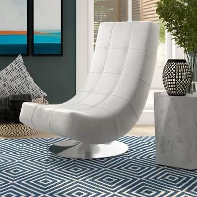 swivel chaise lounge chair baby rocker fisher price orren ellis ober reviews wayfair