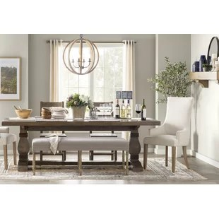 solid oak dining table and chairs memory foam sleeper chair tables kitchen joss main gertrude wood