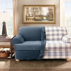 Sure Fit Stretch Stripe 2 Piece T Cushion Sofa Slipcover Ikea Grankulla Futon Bed Loveseat