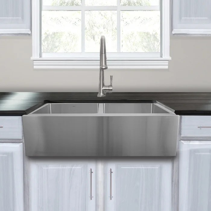 kitchen sink farmhouse high flow faucet aerator nantucket sinks pro series stainless steel 33 l x 22 w double basin
