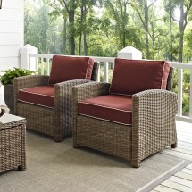 Beachcrest Home Dardel 2 Deep Seating Chairs With Cushion
