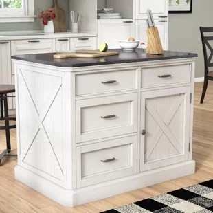 kitchen island top counter stools quartz wayfair ryles with engineered