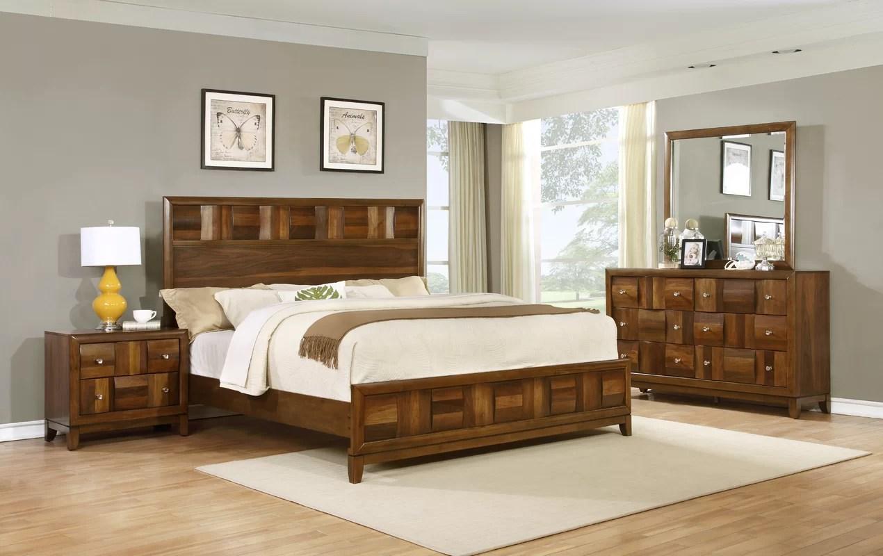 Roundhill Furniture Calais Panel 4 Piece Bedroom Set