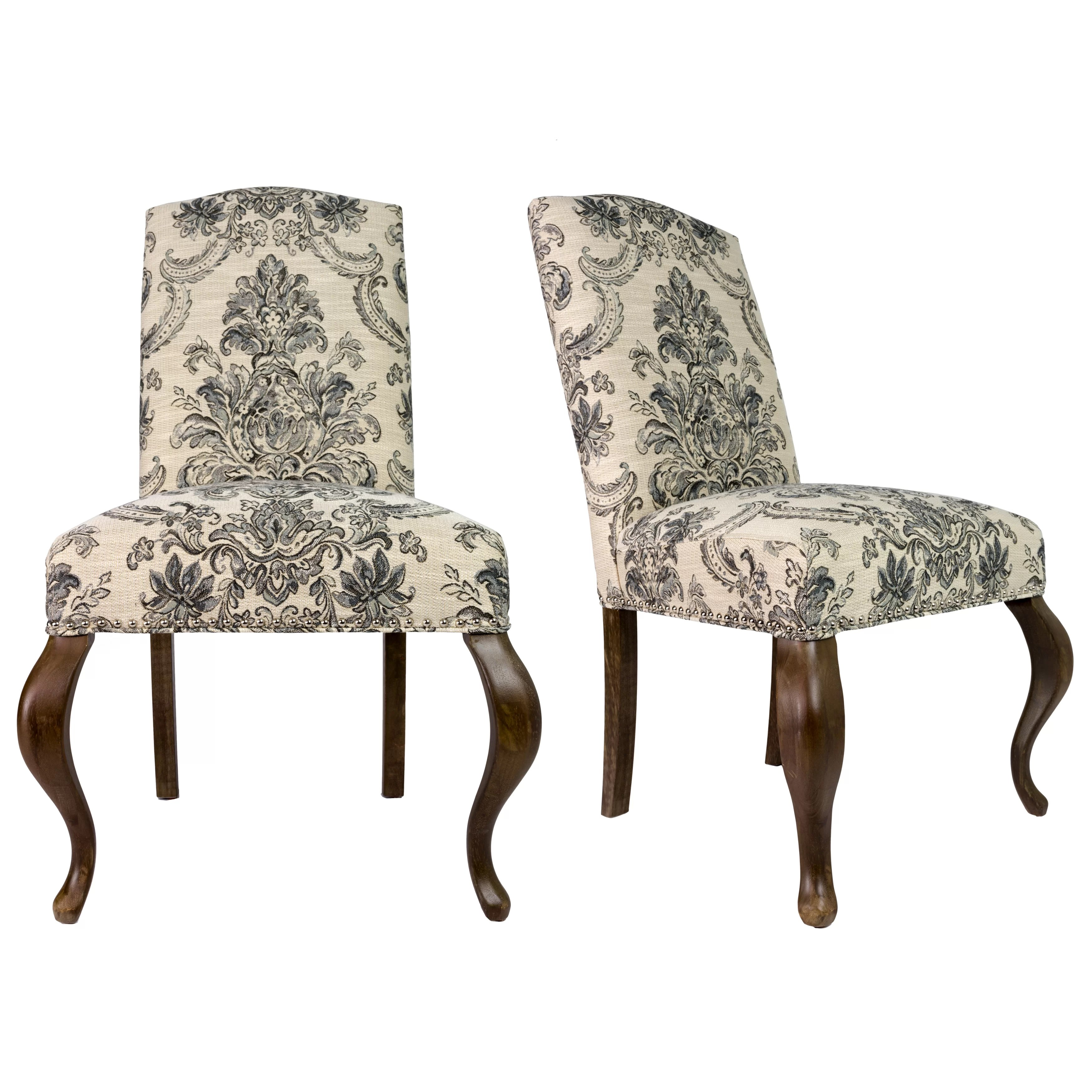 Spring Chair Queen Ann Spring Upholstered Side Chair