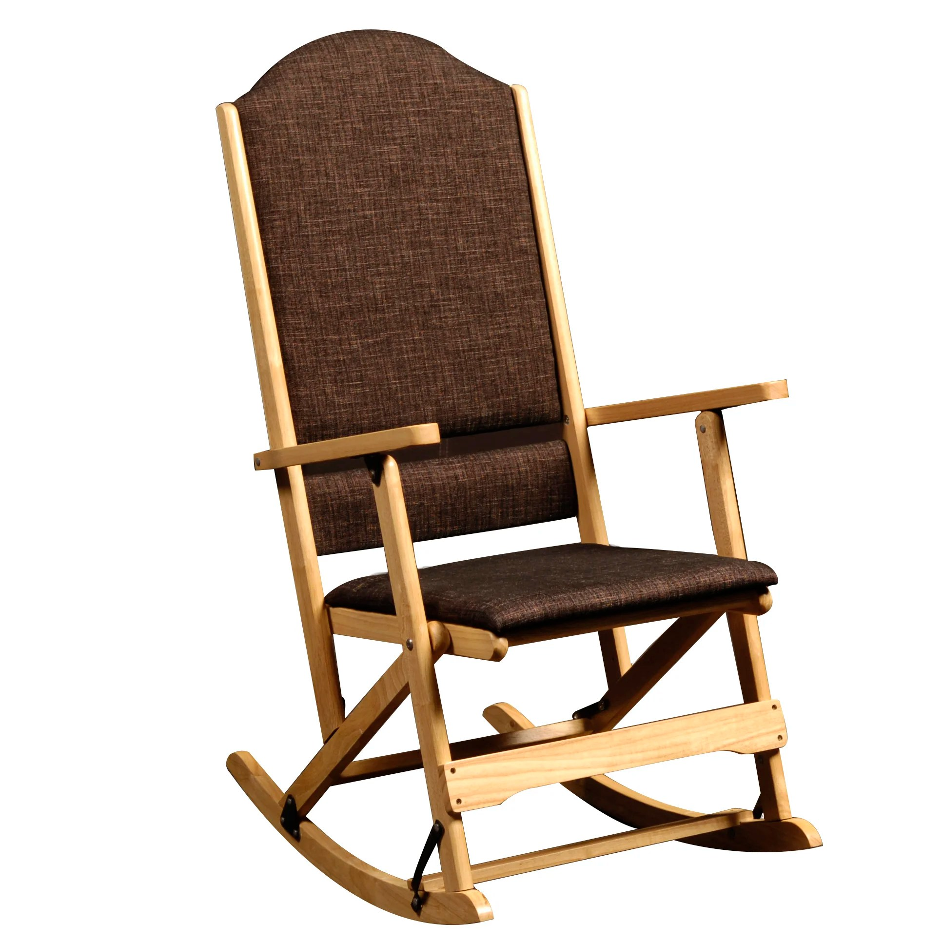 folding rocking chair wood navy blue desk wildon home  cedar creek solid