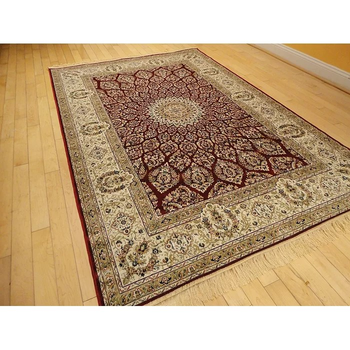 carpet for living room bedroom and furniture astoria grand shanelle hand knotted silk red beige area rug reviews wayfair ca