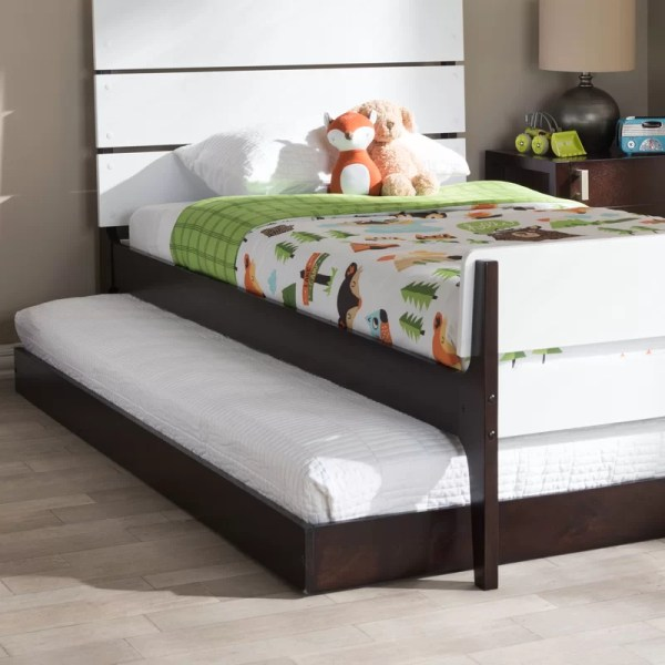 Harriet Bee Pougkeepsie Modern And Contemporary Twin Platform Bed Trundle &