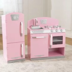 Retro Kids Kitchen Grey Chairs Sets Play Accessories You Ll Love Wayfair Set
