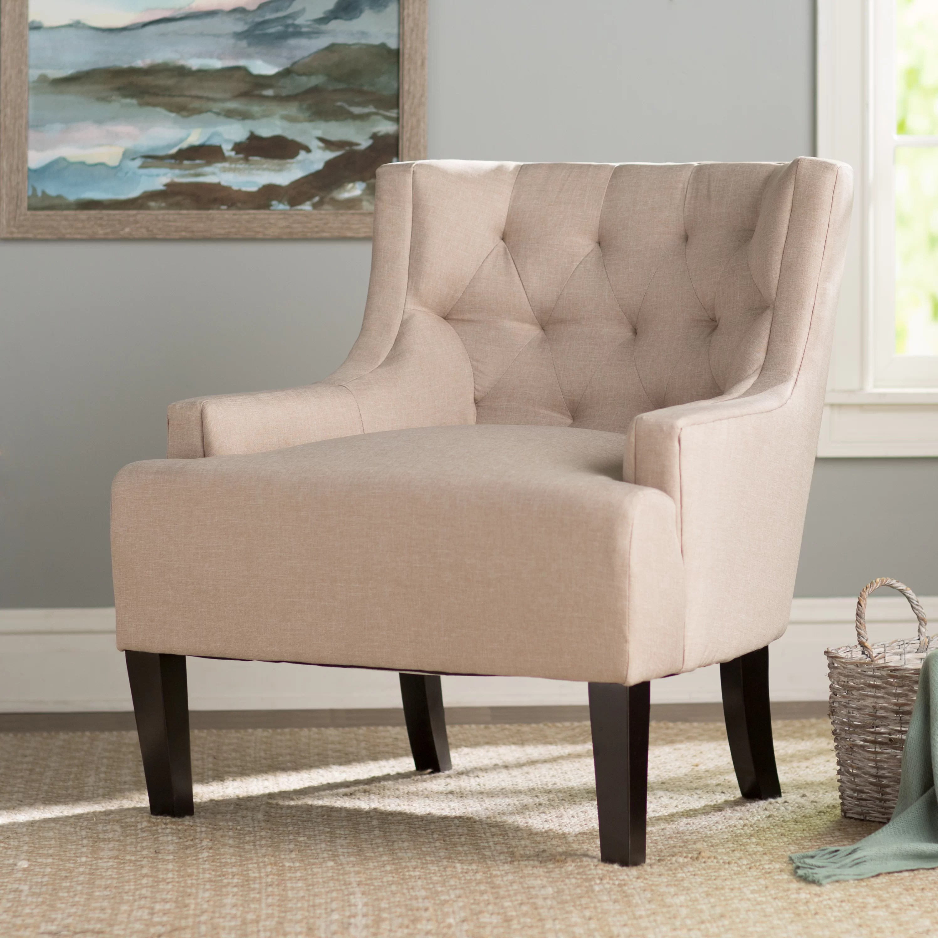 Wingback Tufted Chair Barwood Wingback Chair