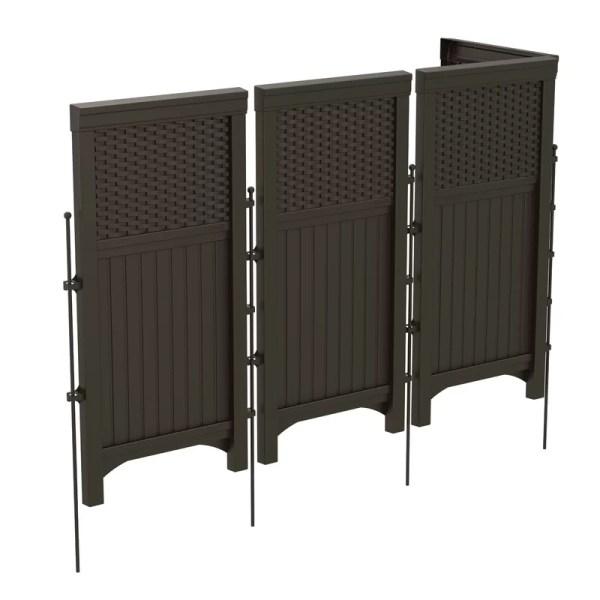 Suncast 4 Panel Resin Outdoor Screen In Java &