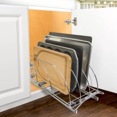 Pull Out Kitchen Cabinet Lowes Storage Lynk Professional Roll Cutting Board Bakeware And Tray Organizer