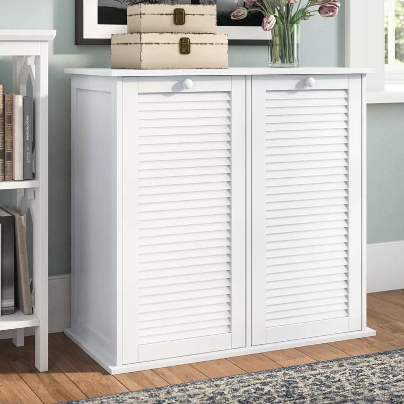 Beachcrest Home Cabinet Laundry Hamper  Reviews  Wayfairca