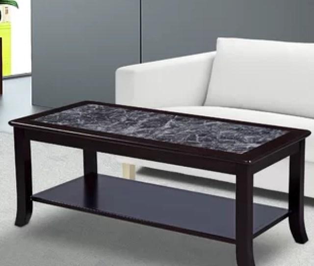 Fenske Marble Top Coffee Table