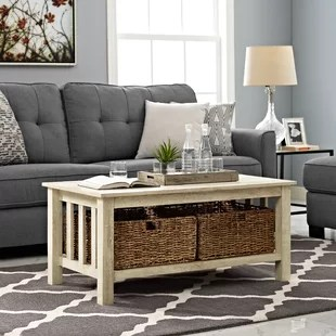 living room table with storage interior design for small and kitchen farmhouse rustic coffee tables birch lane quickview