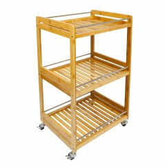 Kitchen Serving Cart Soap Dispenser Pump Brambly Cottage Marchienne Bamboo 3 Tier Wayfair Co Uk