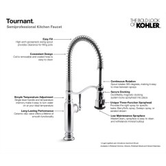 Professional Kitchen Faucet Islands Tournant Semi Sink With Berrysoft And Masterclean