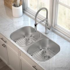 Stainless Steel Undermount Kitchen Sinks Gordon Ramsay Set Kraus Outlast Microshield Real 16 Gauge 32 25 X 18 Double Basin