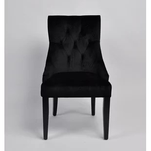 black velvet chair navy side chairs wayfair pell upholstered dining