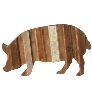 pig kitchen buffet table decor wayfair slat wood wall
