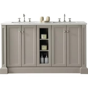 modern 60 inch double bathroom vanities | allmodern