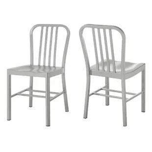 industrial metal chairs chair covers buy online wayfair wilfong dining set of 2