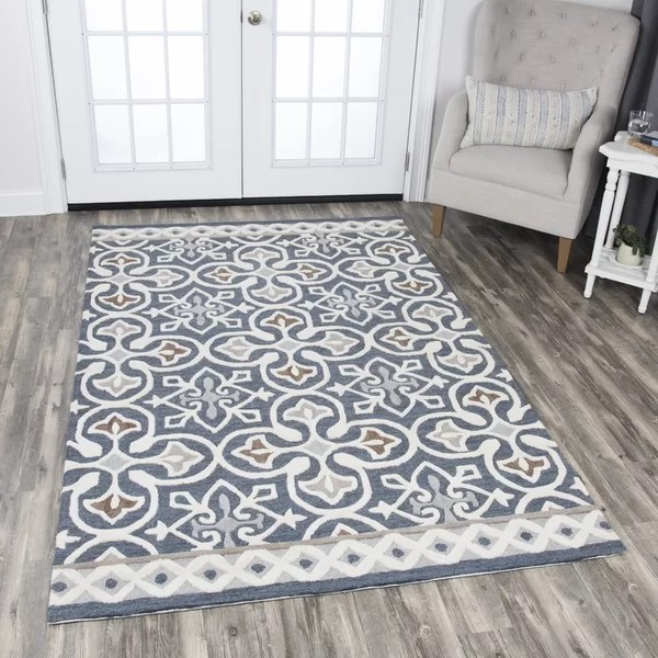 semi custom kitchen cabinets reviews updates nordmeyer hand-tufted blue/gray area rug & | birch ...