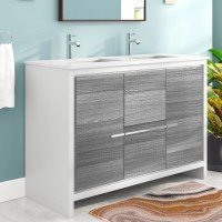 "Mercury Row Bosley 48"" Double Sink Modern Bathroom Vanity ..."