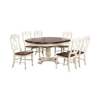 kitchen table nook vinyl backsplash dinettes breakfast nooks you ll love wayfair kenya butterfly leaf 7 piece solid wood dining set