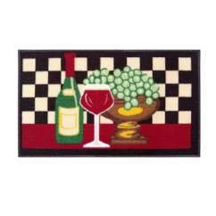 Wine Kitchen Rugs Hardware Pulls And Grapes Rug Wayfair Summers Mat